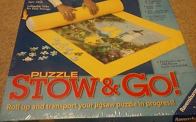 Puzzle Stow & Go! Roll up your puzzle and transport in progress