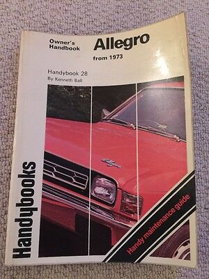 Austin Allegro Autobooks Owners Workshop Manual. (by Kenneth Ball)