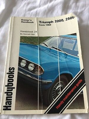 Triumph 2000 2500 from 1963 Autobooks Owners Handbook & Handy Maintenance Guide