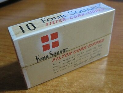 Four Square Cigarettes Vintage Unopened - Live / New Old Stock 10 Pack