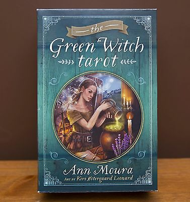 Green Witch Tarot, cards and full size book by Moura Ann