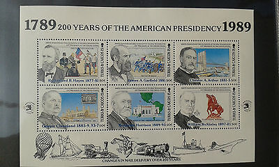c) TURKS AMERICAN PRESIDENTS 6v. mint ** MNH MASSONERIA MASONIC FREEMASONRY