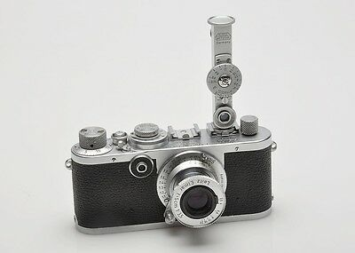 Leica If, 1f camera & Leica FOKOS rangefinder plus case, 1951 Wetzlar Germany