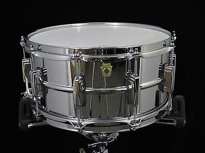 Ludwig LM402 Supraphonic Snare Drum 6.5 x 14 Excellent Used Condition
