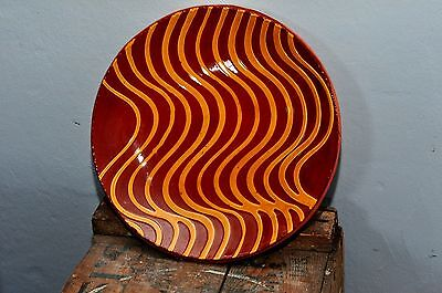Vintage Breininger Redware Plate Signed and Dated 1984