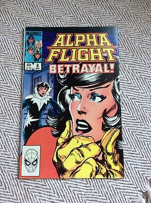 ALPHA FLIGHT Vol.1, #8 Boarded & Sleeved COMBINED POSTAGE OFFERED