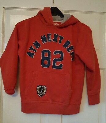 boys age 8yrs red next hoodie