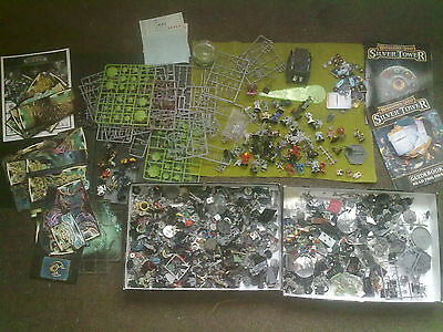 Huge Job Lot of WARHAMMER  spares parts  warhammer quest etc