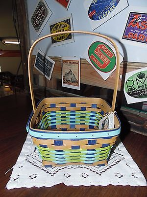 Longaberger, 2017 Large Easter Basket, Warm Brown and Turquoise, NEW~