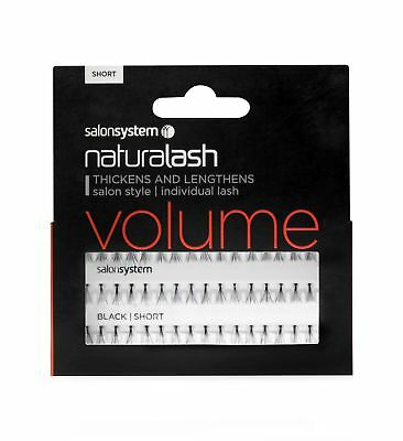 Salon System Individual Lash VOLUME Black Short Semi-Permanent Cluster Lashes
