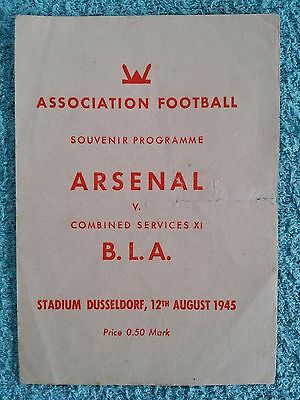 1945 - ARSENAL v BRITISH LAND ARMY XI PROGRAMME - FRIENDLY - DUSSELDORF