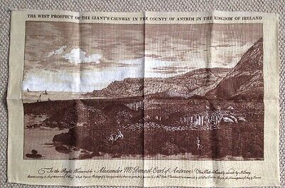 Tea Towel The West Prospect Of The Giants Causway