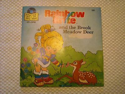 Rainbow Brite and the Brooke Meadow Deer paperback book with record