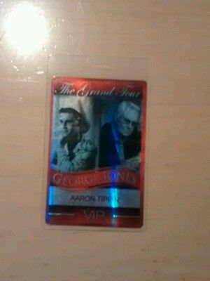 George Jones Farewell Tour  Backstage Laminated Pass AARON TIPPIN VIP