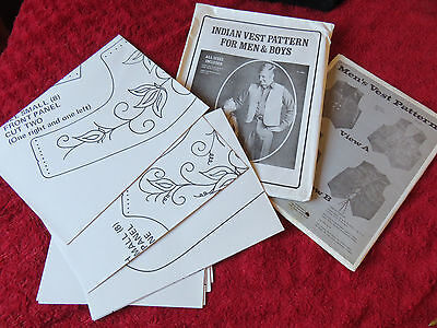 2 X Vintage American Men's Vest/waistcoat Paper Patterns - For Greyhound Rescue