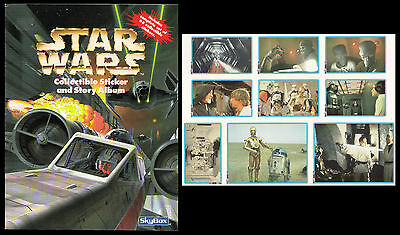 Star Wars Original Trilogy - Complete 66 Stickers Set And Album