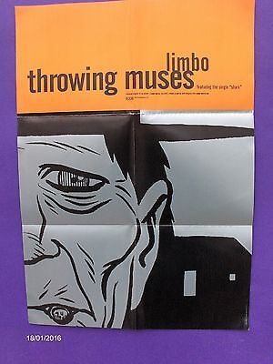 """Throwing Muses Limbo ORIGINAL 1996  UK PROMO POSTER 4AD tanya donelly 24"""" x 17"""""""