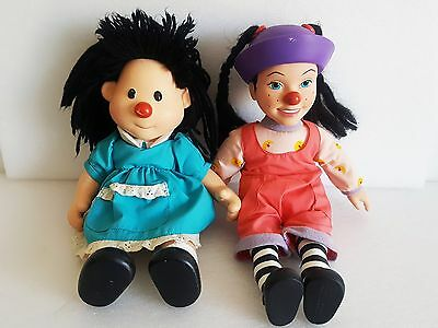 """Rare Vintage THE BIG COMFY COUCH - 15"""" Loonette & 14"""" Molly Vinyl Doll Set"""