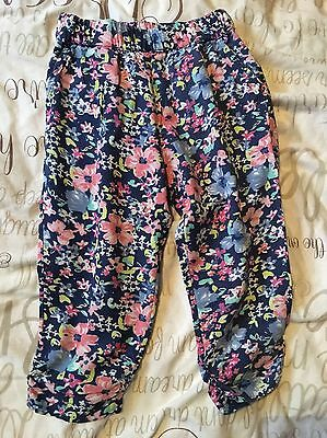 Next Girls Floral Trousers Age 3 Years