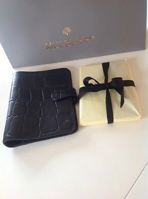 Mulberry Vintage Agenda In Black Congo Leather 2017 Diary