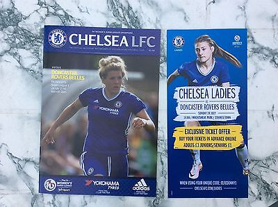 Chelsea Ladies v Doncaster Rovers Ladies 2016 WSL Prog AND Colour Flyer