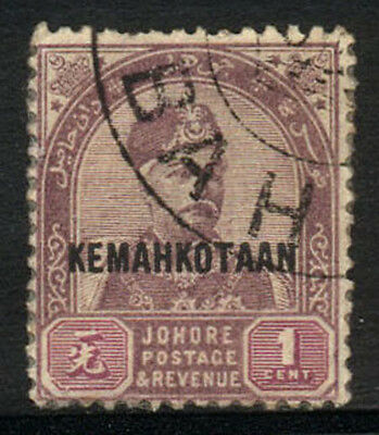 1896 JOHORE USED STAMP (Michel # 16I)