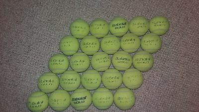 25 Used Babolat Gold Tennis Balls