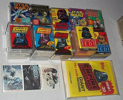 Vintage Star Wars Topps COMPLETE EX-MT Sets Stickers Lot ESB ROTJ 1977 1980 1983