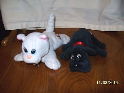 Tonka Vintage Pound Puppies Purries Lot of 2 Small Newborn Cat Dogs