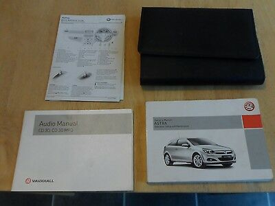 vauxhall astra h service book wallet mk5 2004 to 2009