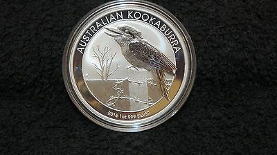 2016 1oz fine silver Kookaburra! Beautiful Coin in capsule