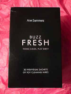 Ann Summers Womens Buzz Fresh Cleaning Wipes Hygienic Skin Friendly 30 Pack