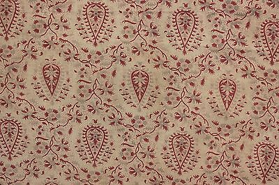Vintage French printed fabric cotton material