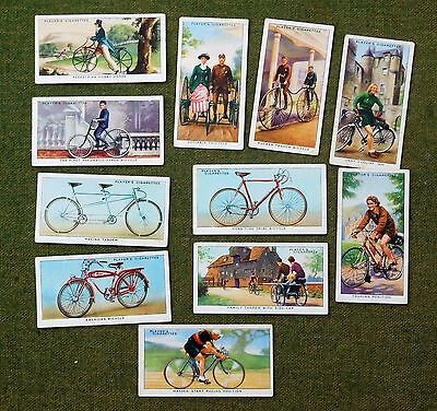Cycling Cigarette Cards John Player & Sons  Set Of 11  From 50