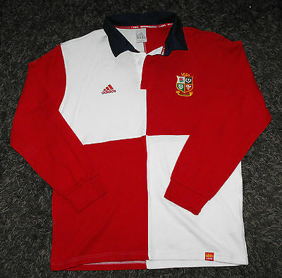 BRITISH LIONS Official / Retro Long Sleeve RUGBY UNION Shirt Jersey - Large