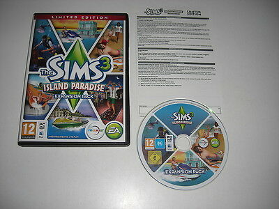 THE SIMS 3 ISLAND PARADISE Limited Edition Add-On Expansion Pack Pc DVD / MAC