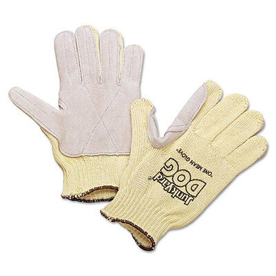 Honeywell Men's Junk Yard Dog Kevlar Gloves Leather Palm Yellow Men's KV18A10050