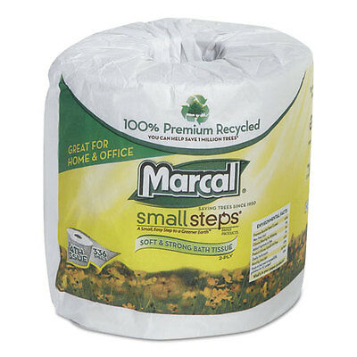 Marcal 100% Recycled Two-Ply Bath Tissue 336 Sheets 48/CT 6073