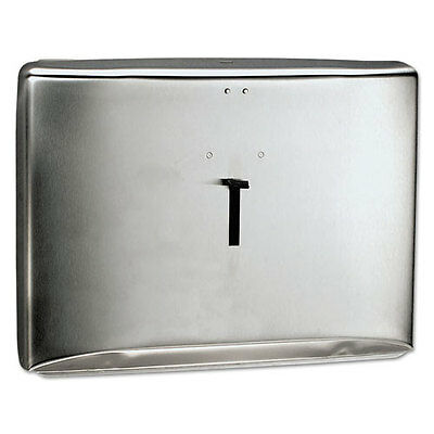 "Kimberly-Clark Reflections Toilet Seat Cover Dispenser Stainless Steel 16.6""x12"