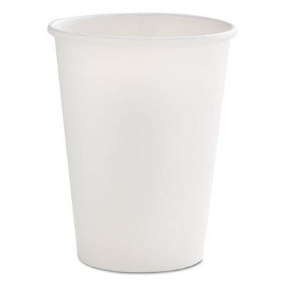 Dopaco Paper Hot Cups 16 oz White 50/Bag 20 Bags/Carton D16HCW