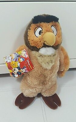 """Disney Store Exclusive Winnie The Pooh Owl Soft Teddy / Plush Toy WITH TAG 10"""""""