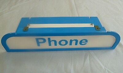 New Blue List 31 Armored Payphone Enclosure Pay Phone Booth Lens Diffusor Bell