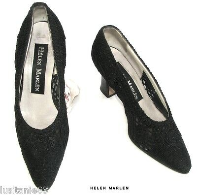 Helen Marlen Court Shoes Vintage Heels 7.5 Cm Textile & Leather 36