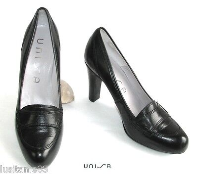 Unisa - Mocassin High-Heel 9.5 Cm & Plateau All Leather Black 39 - New