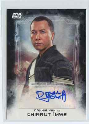 2016 Topps Star Wars Rogue One Donnie Yen Chirrut Imwe SP Rare Auto #ed 47/50