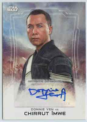 2016 Topps Star Wars Rogue One Donnie Yen Chirrut Imwe Auto Autograph
