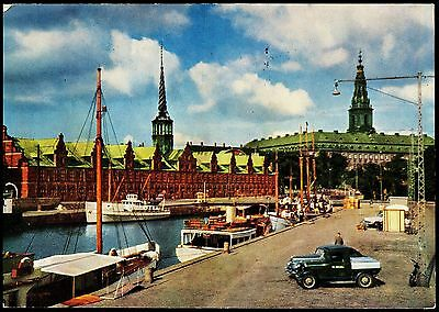 Postcard - Copenhagen - The Stock Exchange And Christian Palace & Harbour
