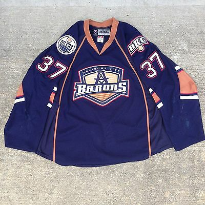 Game Used / Autographed Jerseys Oklahoma City Barons - White & Navy