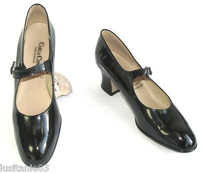 Carla Conti - Heels Shoes 6 Cm Black Patent Leather 41 - Very Good Condition