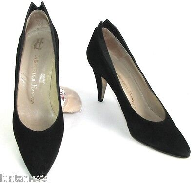 Christopher Hartian Court Shoes Heels 8 Cm Leather Black Velvet 36